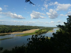 View on the Loire from the Champalud / Vue sur la Loire du Champalud